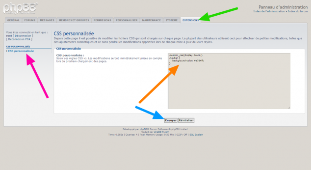 phpBB Extension - Custom CSS - Page Administration.png