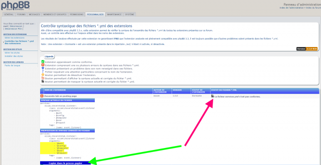 phpbb_extensions_yml_check_pca_tool_actual_and_fixed_content_file.png